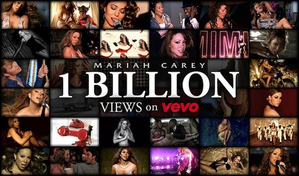 Mariah Carey VEVO 1 Billion