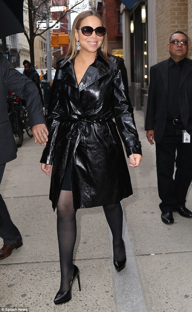 Power dressing Mariah Carey displays her diva style