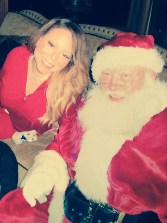 With my friend Santa! I know him!! Lol ( #Elf) Merry Christmas to all!