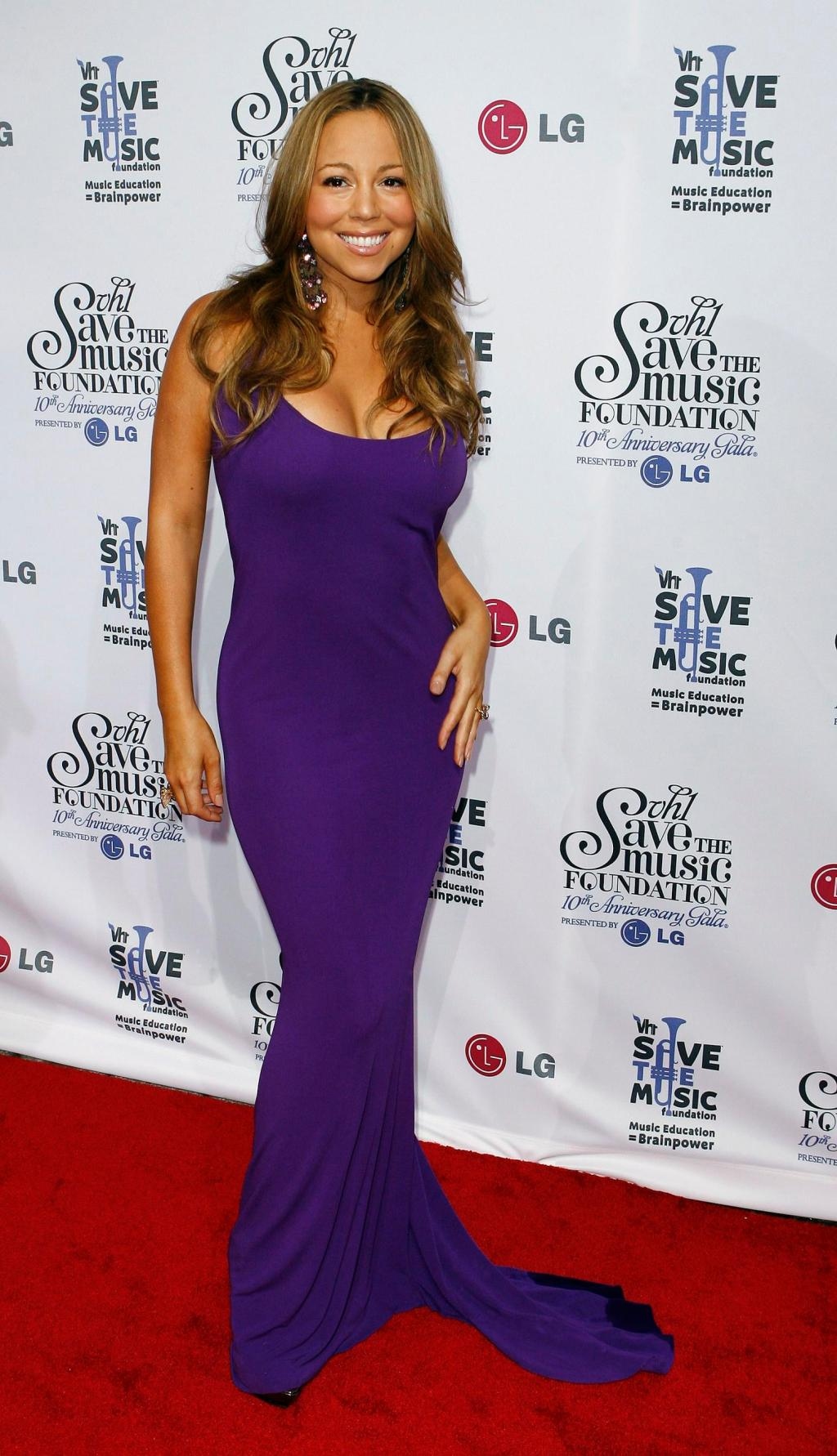 "Singer Carey arrives to attend the 10th anniversary gala of the VH1 ""Save the Music Foundation"" in New York"